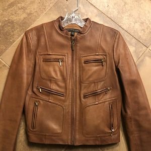 Kenneth Cole leather lined jacket